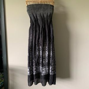 Lapis Strapless Dress One Size Fits Most